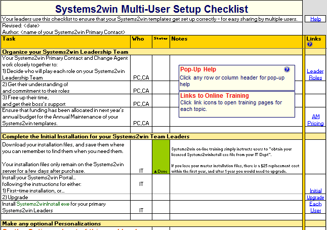 Multi-User Setup Checklist