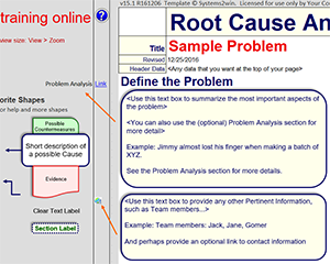 Root Cause Analyisis template - Problem Definition