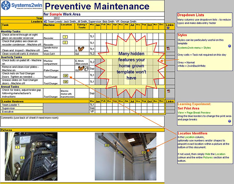 Preventive Maintenance Checklist Template