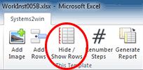 work instructions Hide Show Rows
