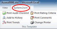 Systems2win menu Assessment features