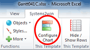 Systems2win menu > Configure Chart