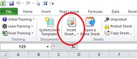 Insert Sheet