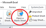 Menu - Open a Blank Sheet