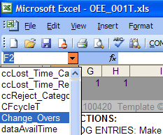 Excel NameBox