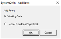 Work Instructions - add rows
