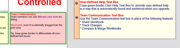 Team Communication Textbox