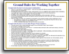 Ground Rules template